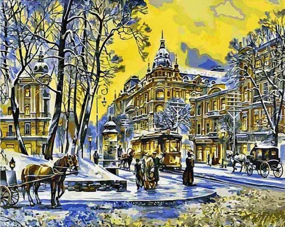 Картина по номерам «Улица Владимирская» Сергея БрандтаРаскраски по номерам<br><br>