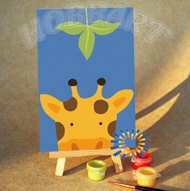 Картина по номерам «Кто там - Жирафик»10x15<br><br><br>Артикул: M1015242-Lite<br>Основа: Картон<br>Сложность: очень легкие<br>Размер: 10x15 см<br>Количество цветов: 8<br>Техника рисования: Без смешивания красок