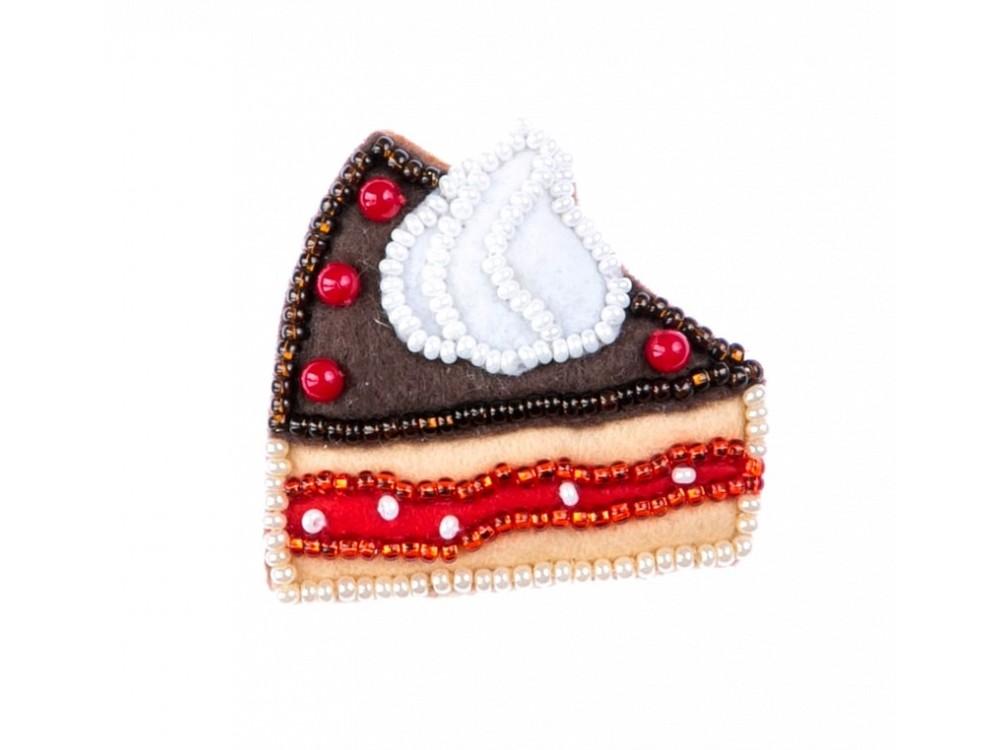 Набор для вышивания «Брошь. Шоколадное пирожное»Смешанная техника<br><br>