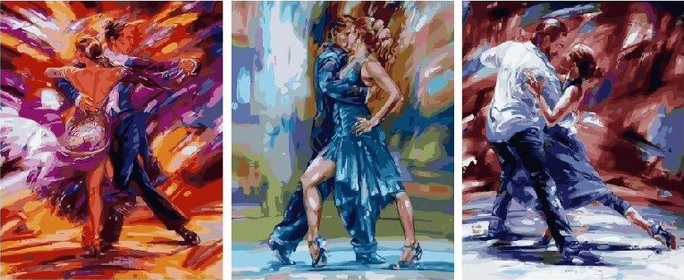 Картина по номерам «Танго»Paintboy (Premium)<br><br><br>Артикул: PX5194<br>Основа: Холст<br>Сложность: очень сложные<br>Размер: 3 шт. 40x50 см<br>Количество цветов: 44<br>Техника рисования: Без смешивания красок