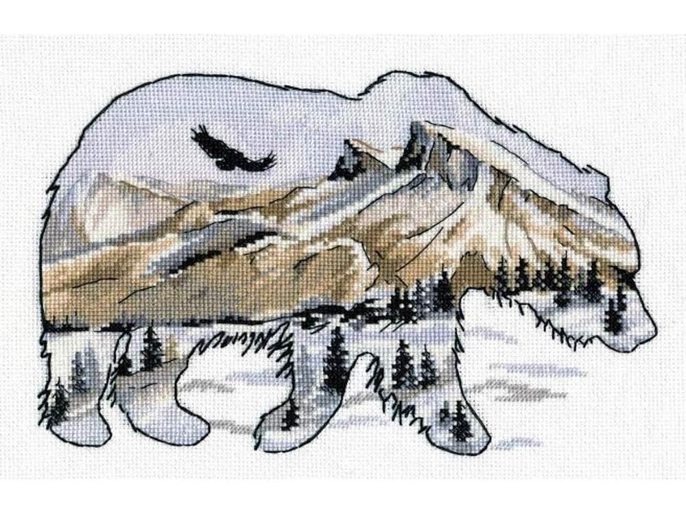 Набор для вышивания «В мире животных. Медведь»Вышивка крестом<br><br>