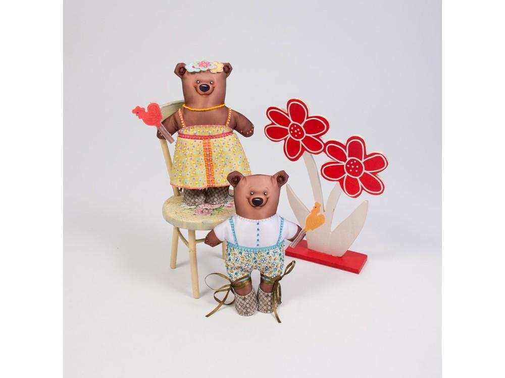 Набор для шитья и вышивания «Мишутка и Машутка»