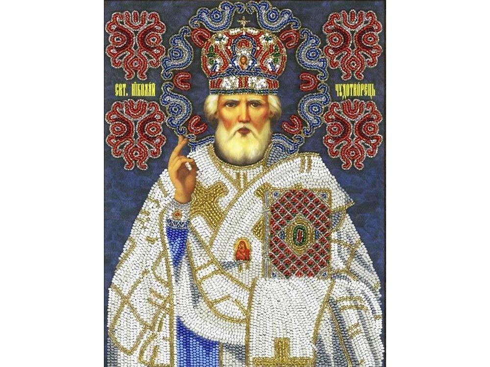Набор вышивки бисером «Святой Николай Чудотворец» (трунцал) фото