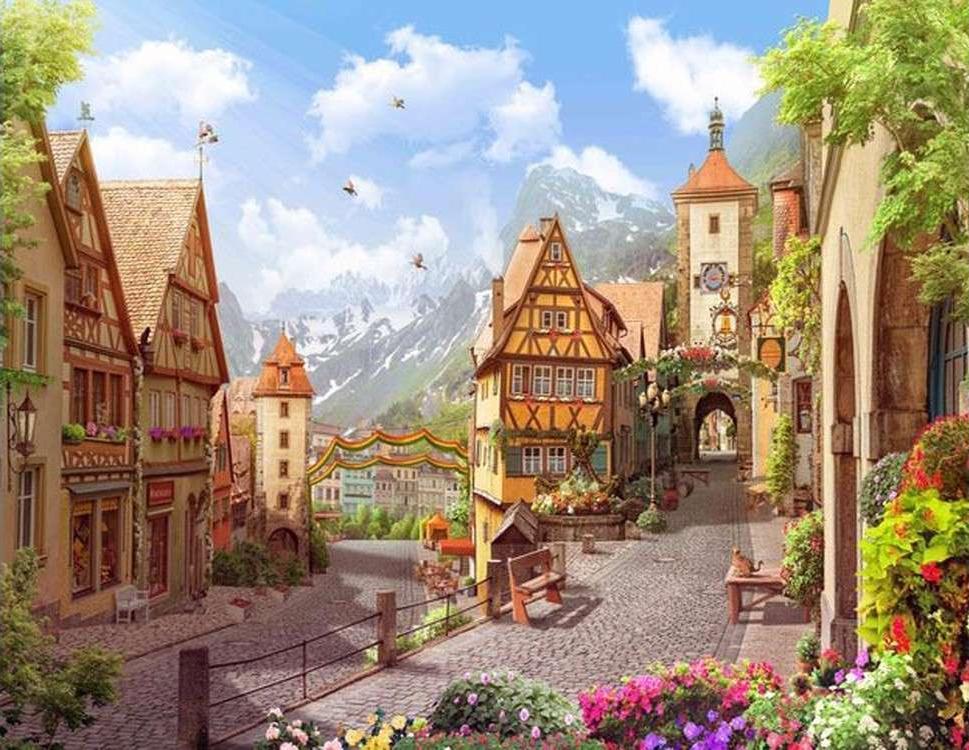 Купить Картина по номерам «Солнечные Альпы», Color KIT, Китай