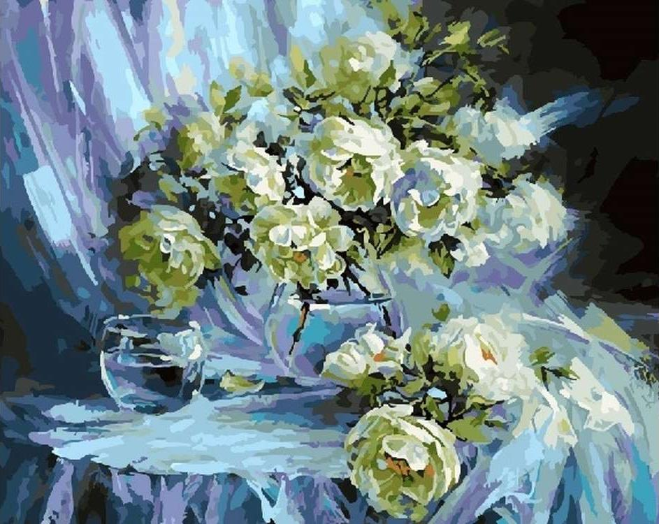 Картина по номерам «Натюрморт в голубом» Светланы Рогозиной