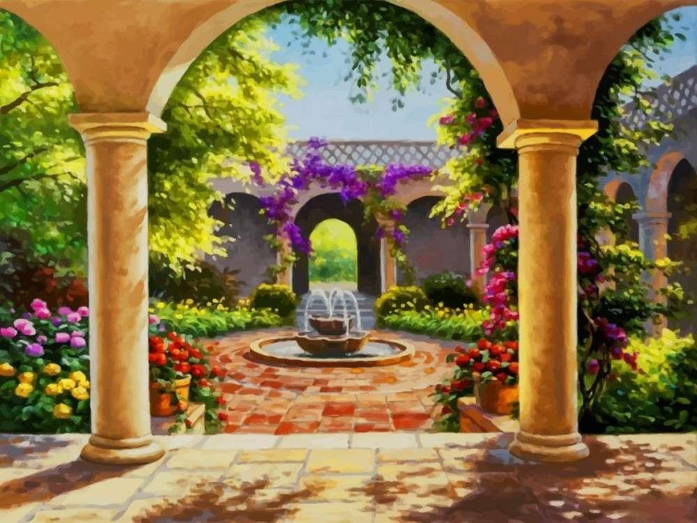 Картина по номерам «Восточный дворик» Сен Кима