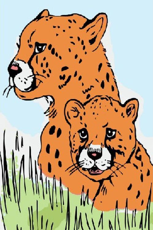 Картина по номерам «Леопарды»