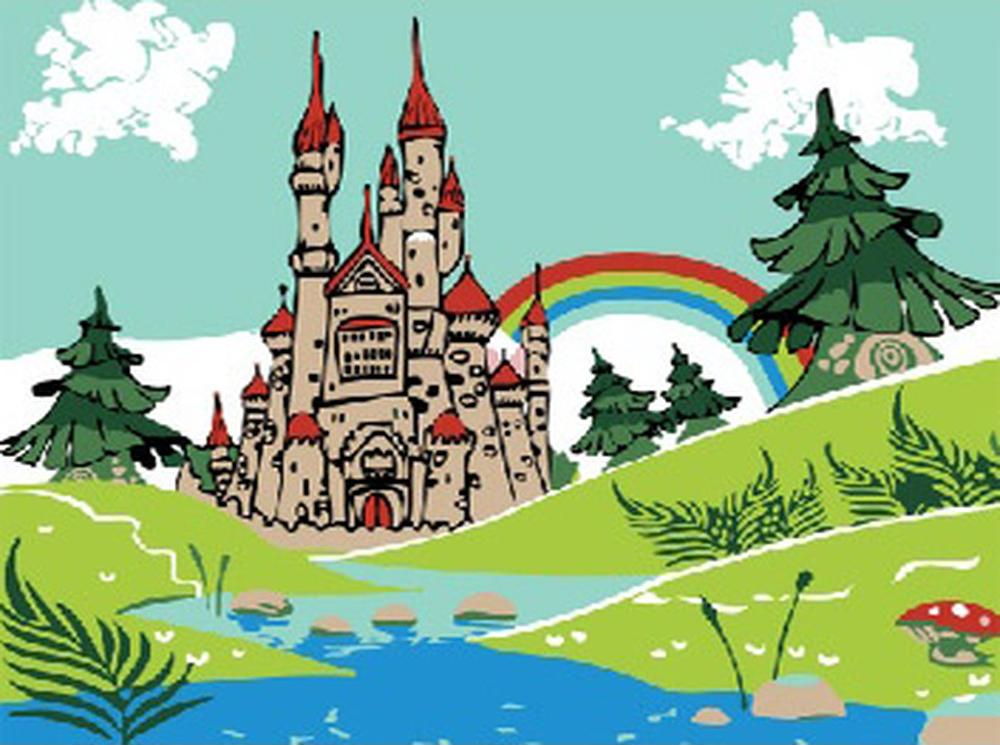 Картина по номерам «Замок принцессы»Раскраски по номерам<br><br>