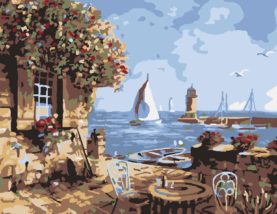 Картина по номерам «Летнее кафе» Райнта ВитаараMolly<br><br>