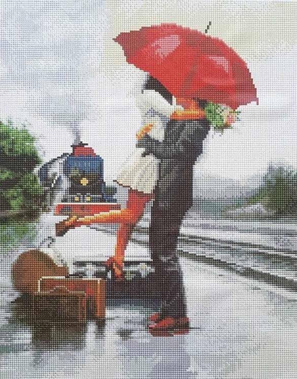 Вышивка дождь для двоих 47