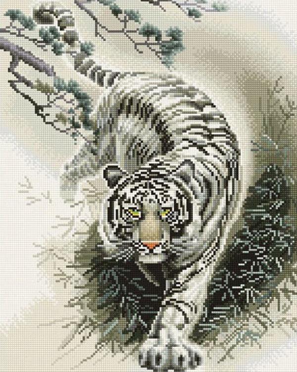 Алмазная вышивка бенгальские тигры 53