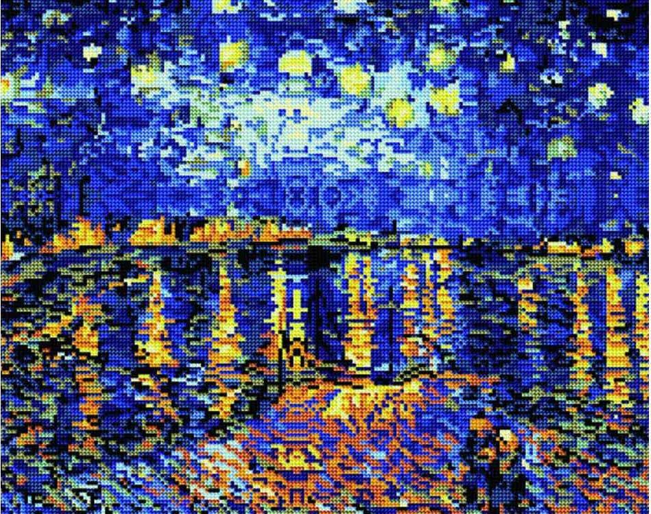 Алмазная вышивка «Ночь над Роной» Ван ГогаАлмазная вышивка<br><br>