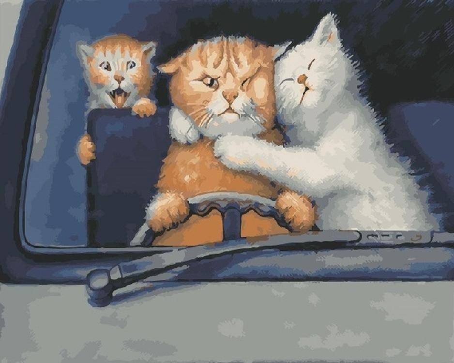 Картина по номерам «За рулем» Степана КаширинаРаскраски по номерам<br><br>