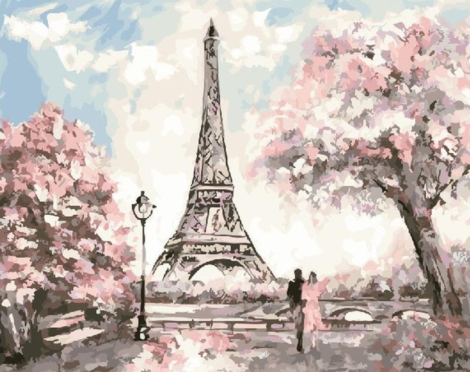 Картина по номерам «Весенний Париж»