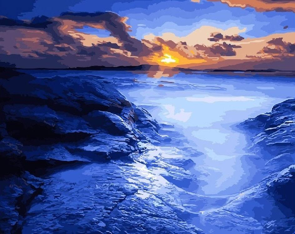 Картина по номерам «Рассвет во фьордах»Раскраски по номерам<br><br>