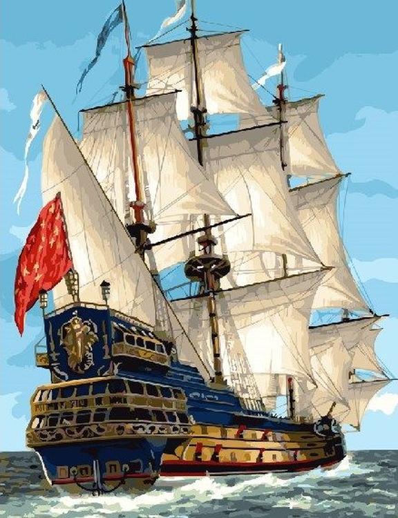 Картина по номерам «Парусный корабль»Раскраски по номерам<br><br>