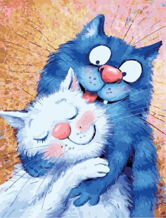 Картина по номерам «Кошачья любовь» Рины Зенюк