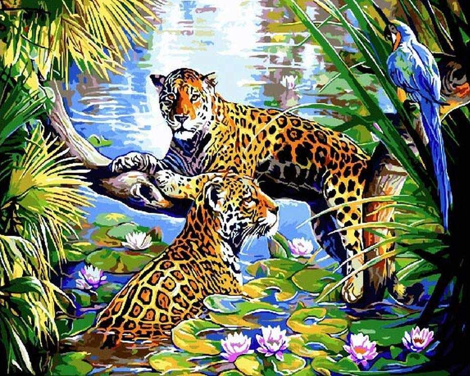 Картина по номерам «Опасные воды»Раскраски по номерам<br><br>