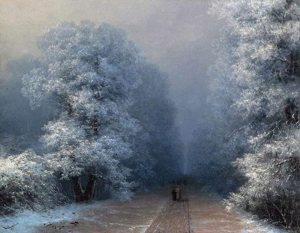 Картина по номерам «Зимний пейзаж» Ивана Айвазовского - Molly