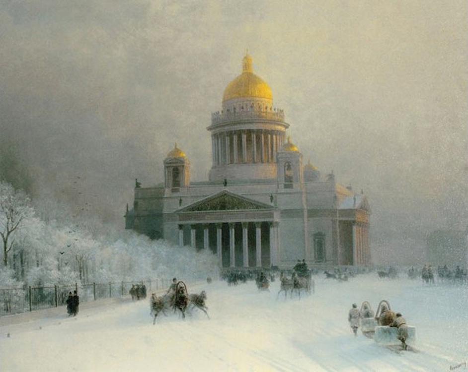 Картина по номерам «Исаакиевский собор в морозный день» Ивана Айвазовского - Molly