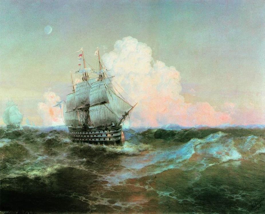 Картина по номерам «Корабль Двенадцать апостолов» Ивана АйвазовскогоРаскраски по номерам<br><br>