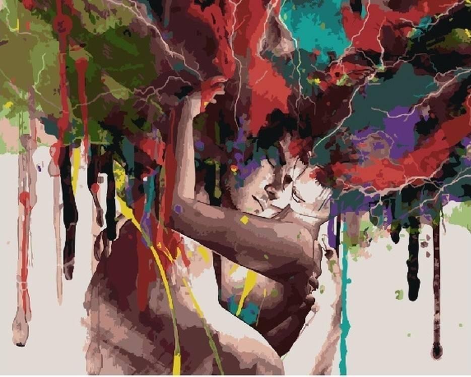 Картина по номерам «Акварельное безумие»Раскраски по номерам<br><br>