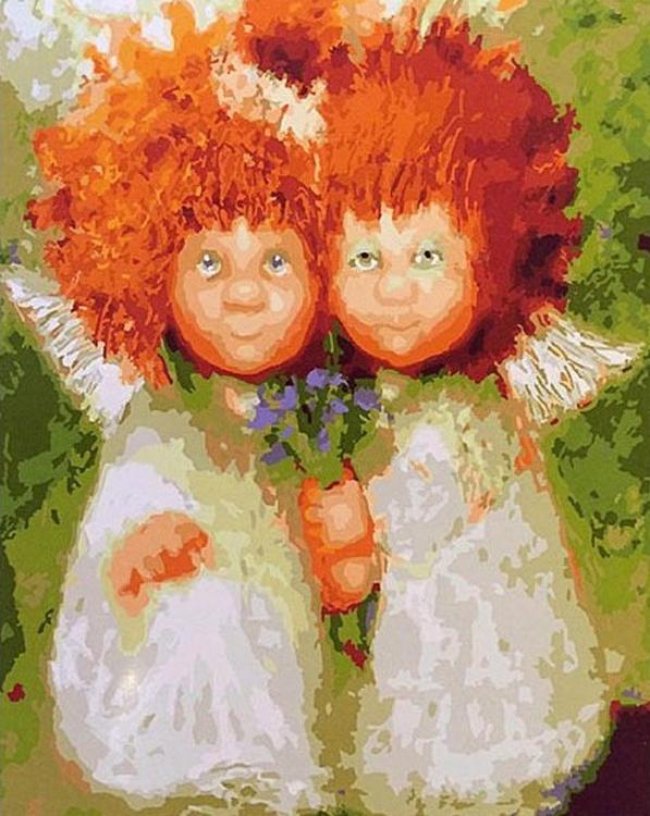 Картина по номерам «Рыжие солнечные ангелы» Галины ЧувиляевойРаскраски по номерам<br><br>