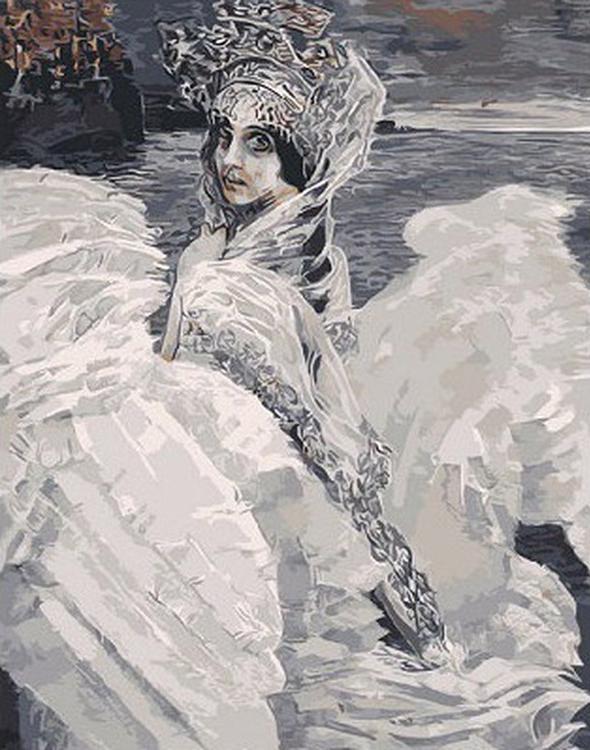 Картина по номерам «Царевна-лебедь» Михаила ВрубеляРаскраски по номерам<br><br>