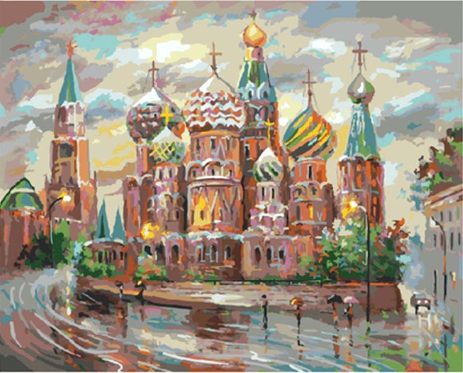 Картина по номерам «Собор Василия Блаженного»Раскраски по номерам<br><br>
