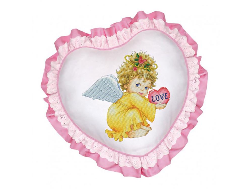 Подушка «Маленький ангел» (рюшка розовая)