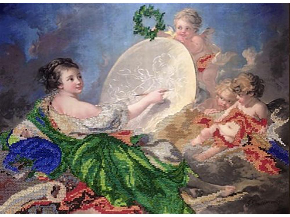 Набор вышивки бисером «Аллегория живописи» Франсуа БушеВышивка часов<br><br>
