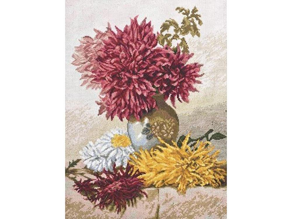 Набор для вышивания «Хризантемы» Мэри Элизабет Даффилд-Розенберг