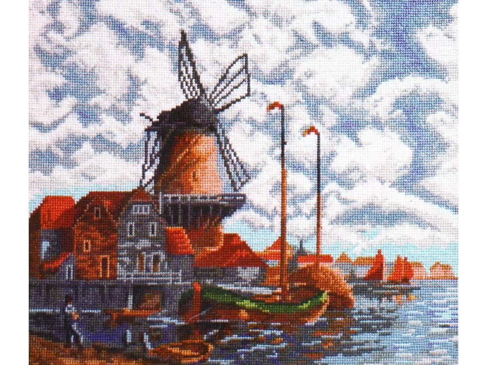 Купить Вышивка крестом, Набор для вышивания «Голландский пейзаж» Луиса ван Стаатена, Палитра