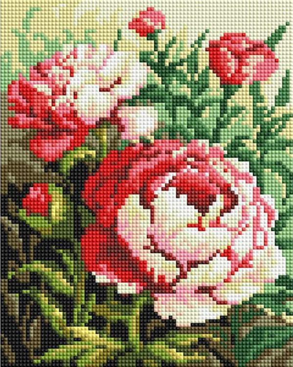 Алмазная вышивка «Цветущий куст»
