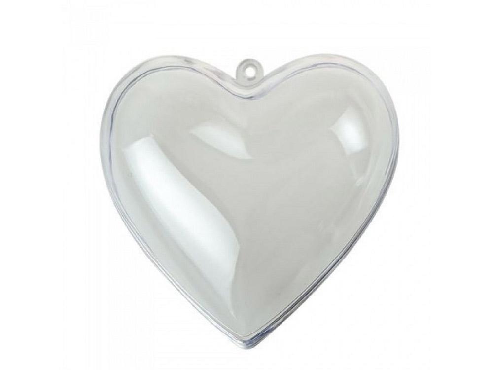 Сердце пластиковое половинками (d 10 см), 2 шт.