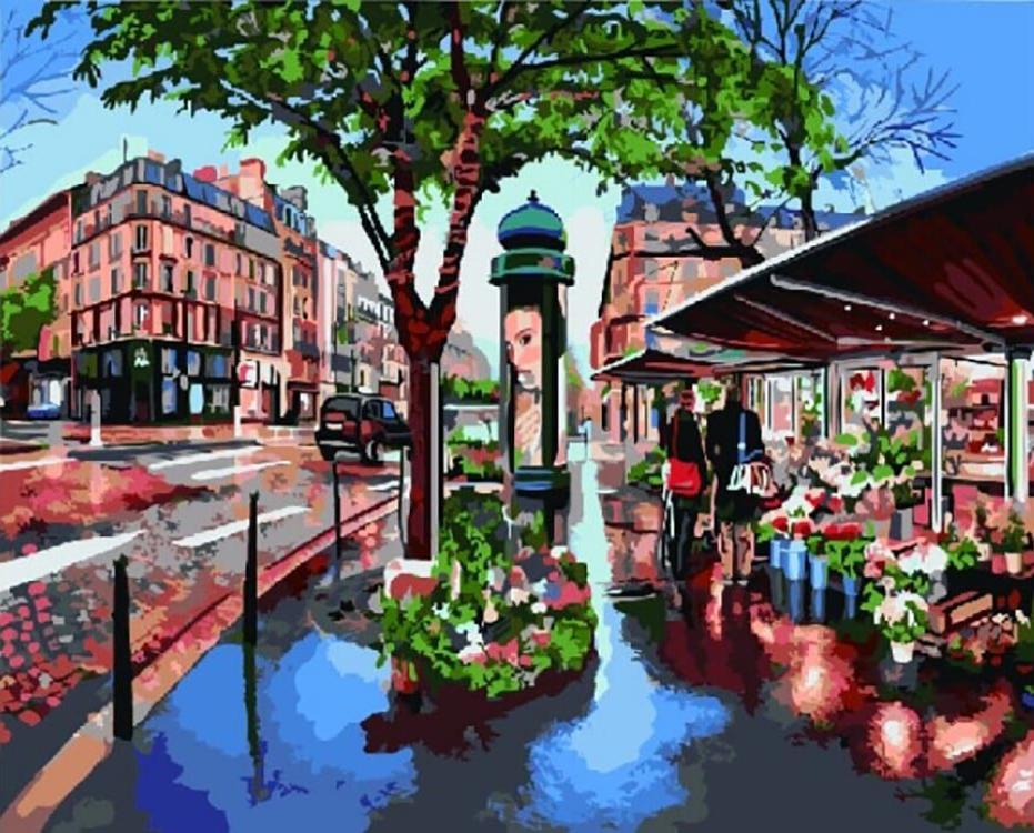 Картина по номерам «Городской пейзаж», «Городской пейзаж»