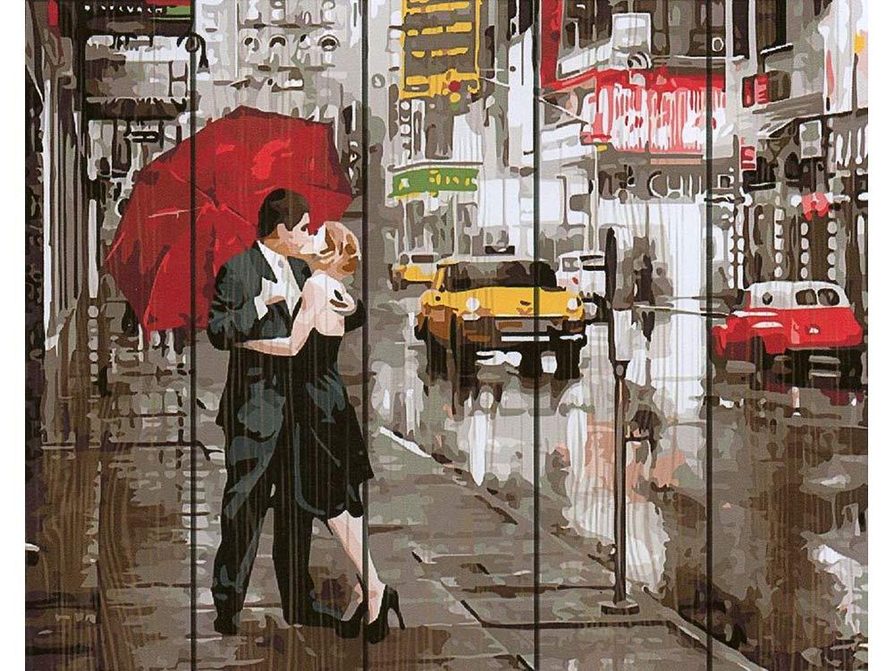 Купить Картина по номерам по дереву Paintboy «Вдвоем в Нью-Йорке», Paintboy (Premium)
