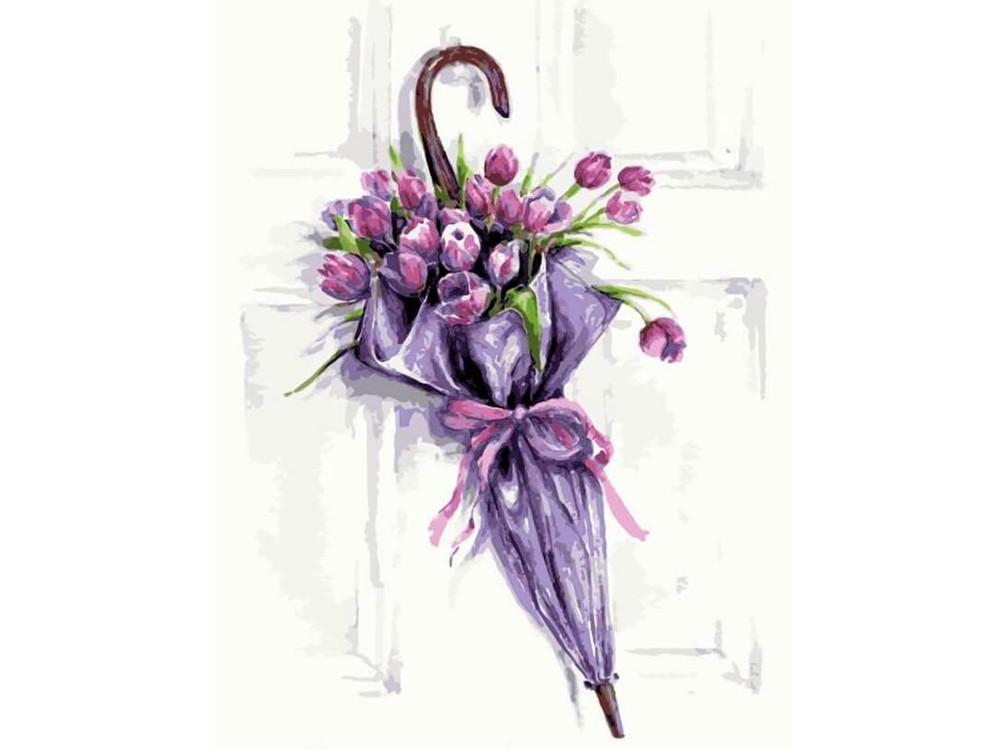 Алмазная вышивка «Цветочный зонт» Татьяны Желтышевой