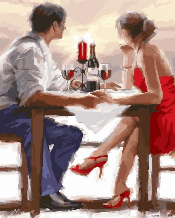 Алмазная вышивка «Закат в Валентинов день» Ричарда Макнейла