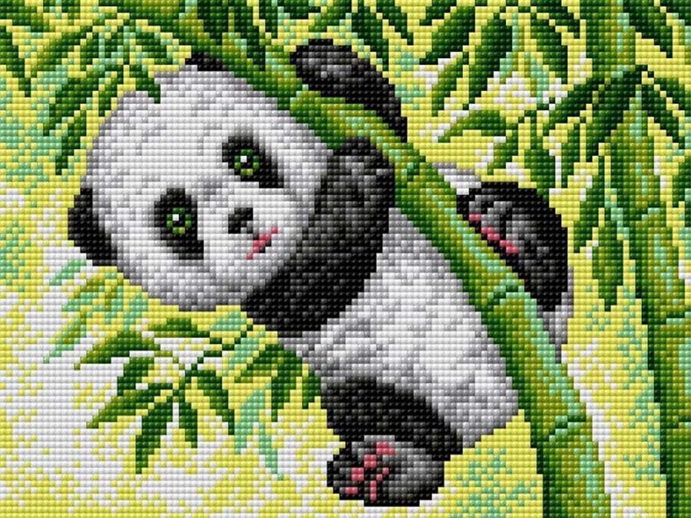Алмазная вышивка «Панда» (на магнитной основе)