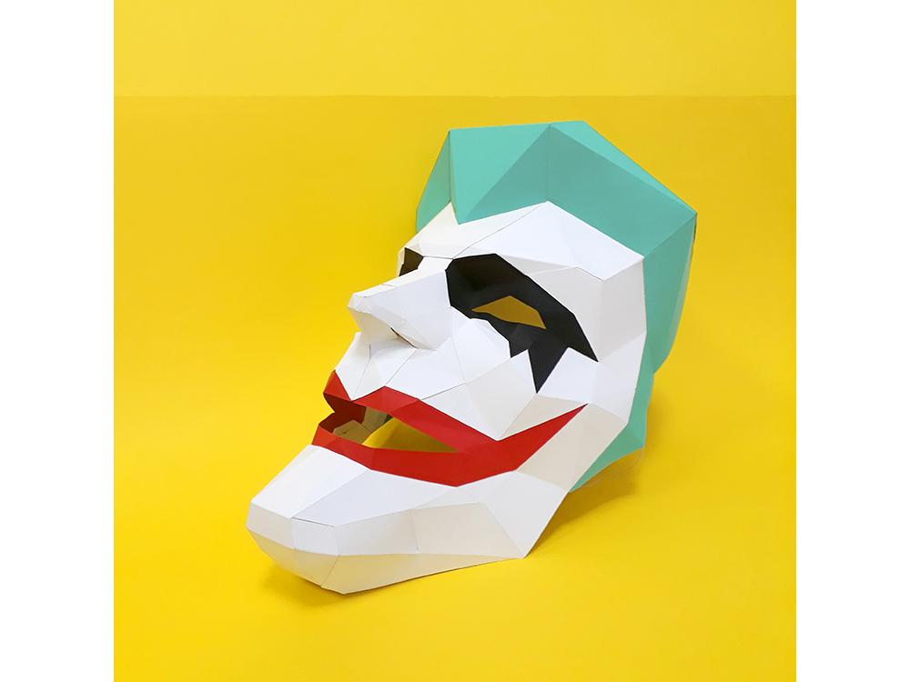 Купить Бумажная модель для склеивания маска «Джокер», Бумажная логика