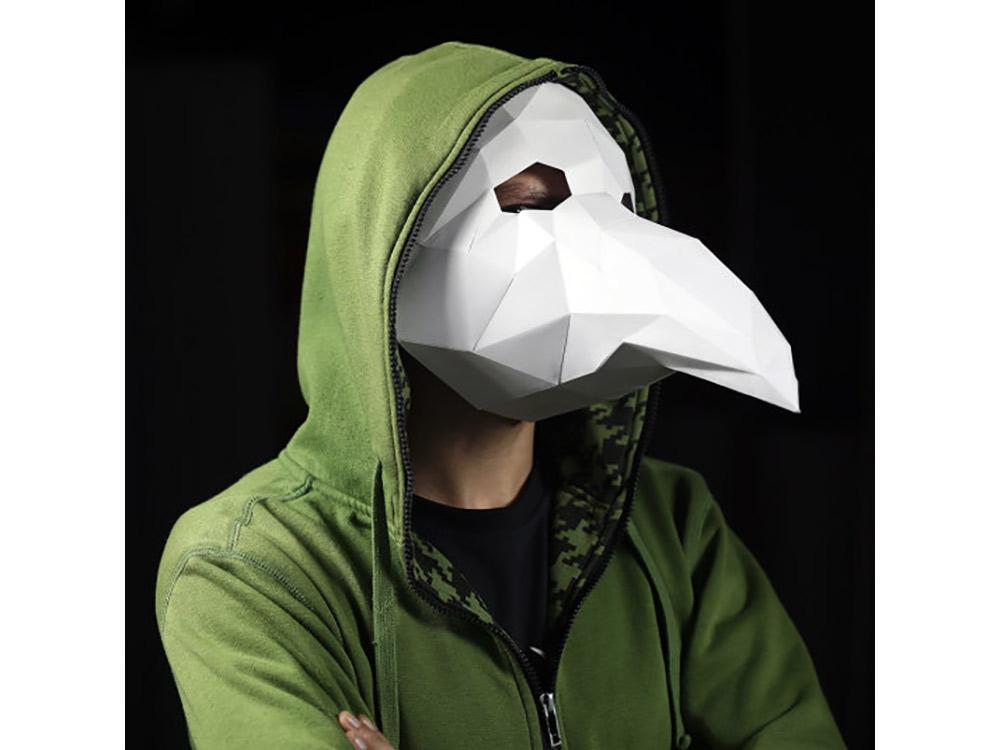 Купить Бумажная модель для склеивания маска «Чумной Доктор», Бумажная логика