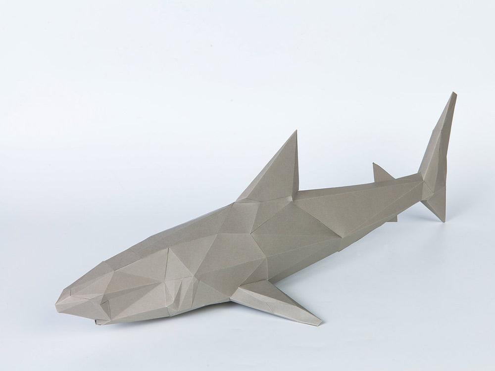 Бумажная модель для склеивания фигура «Акула»