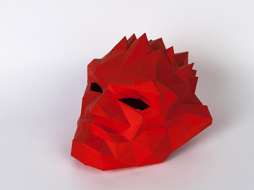 Бумажная модель для склеивания маска «Тролль»