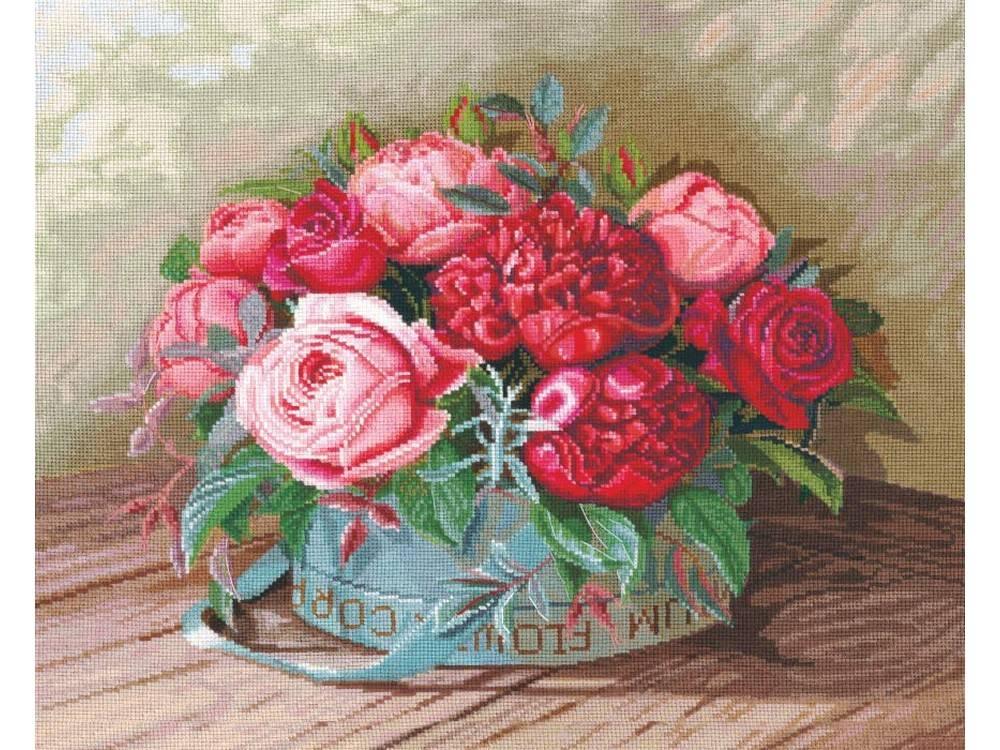 Набор для вышивания «Пионы и розы»