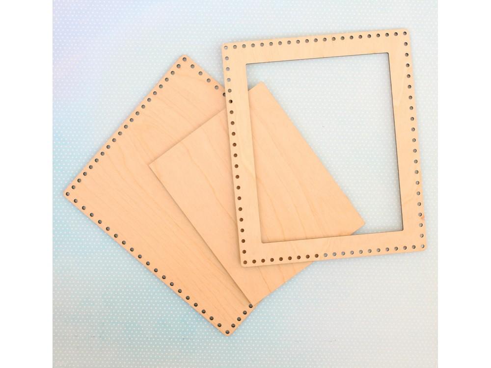 Рамка средняя прямоугольная, 21x25 см