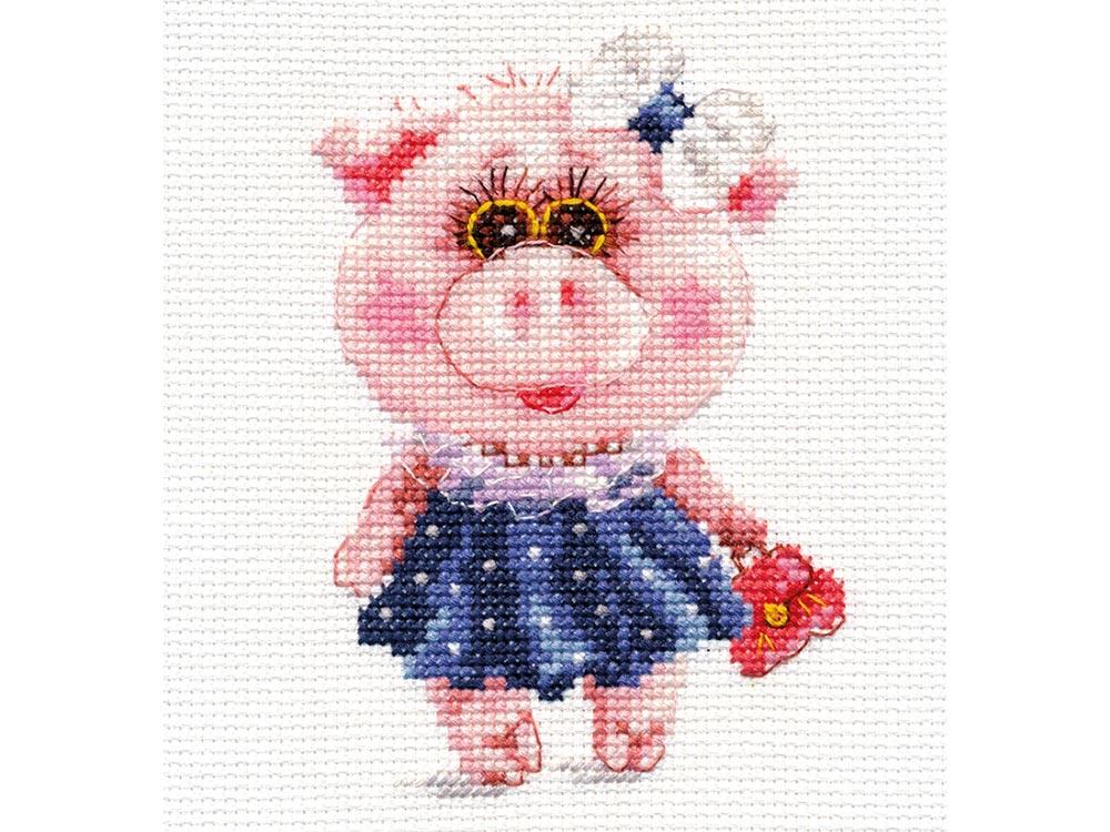 Набор для вышивания «Свинка Тося» фото
