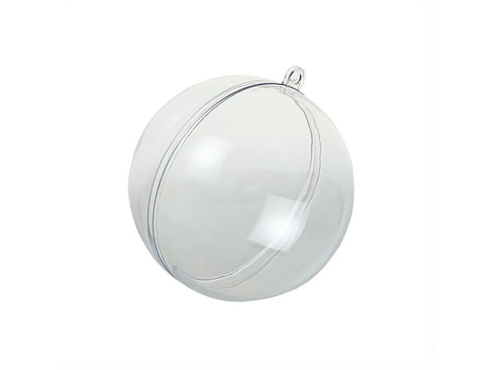 Шар пластиковый прозрачный половинками (d 12 см), 1 шт.