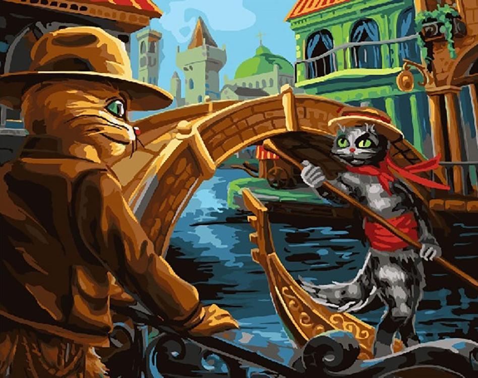 Купить Картина по номерам «Коты», Paintboy (Original)