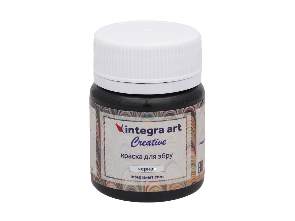 Краска для эбру черная «Creative» 45 мл, Integra Art